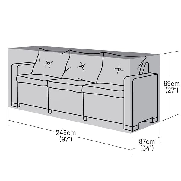 Small 3 Seater Rattan Sofa Cover