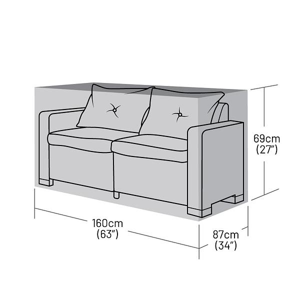 Small 2 Seater Rattan Sofa