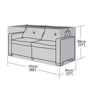 2-3 Seater Rattan Sofa Cover